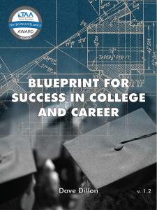 cover image for Blueprint for Success in College and Career by Dave Dillon